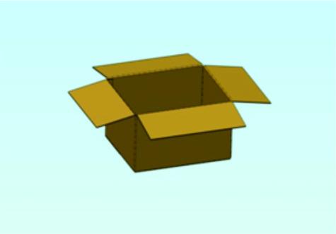 kutija otvoreno sa plavom podlogom